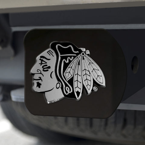 "NHL - Chicago Blackhawks Black Hitch Cover 4 1/2""x3 3/8"""