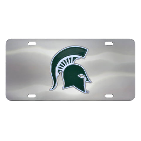 Michigan State Spartans Stainless Steel Diecast License Plate