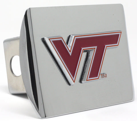 Virginia Tech Hokies Color Chrome Hitch Cover
