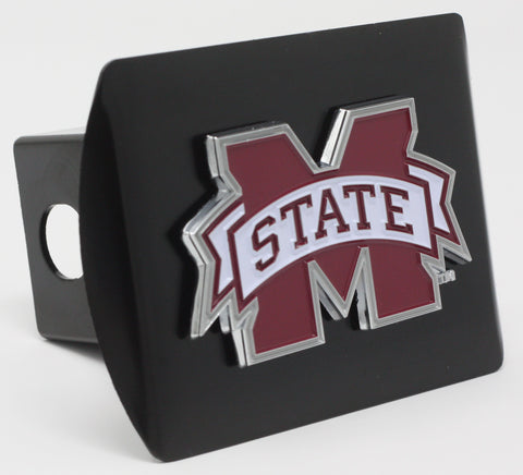 "Mississippi State University Color Metal Hitch Black 3.4""x4"""