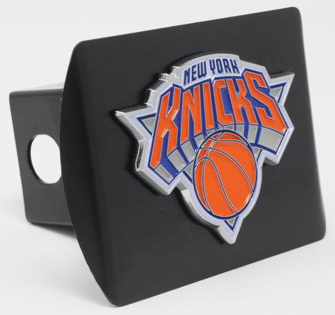"New York Knicks Color Metal Hitch Black 3.4""x4"""