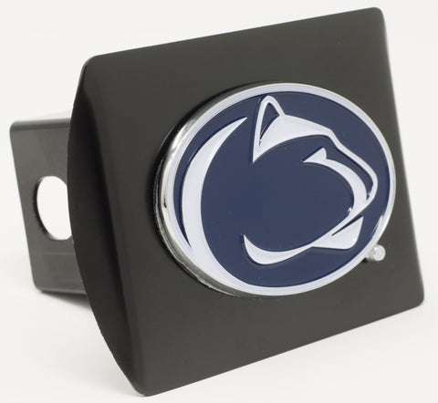 "Penn State Color Metal Hitch Black 3.4""x4"""