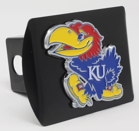 "Kansas Color Metal Hitch Black 3.4""x4"""