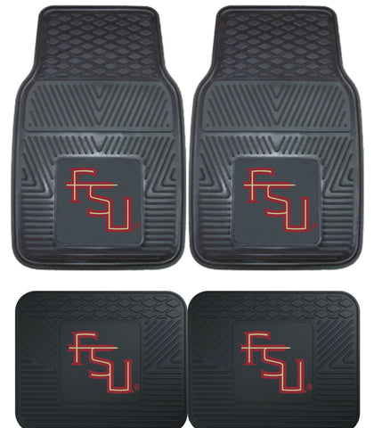 Florida State Heavy Duty 4 Piece Vinyl Floor Mats for Cars Trucks and SUV's