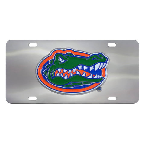 Florida Gators Stainless Steel Diecast License Plate