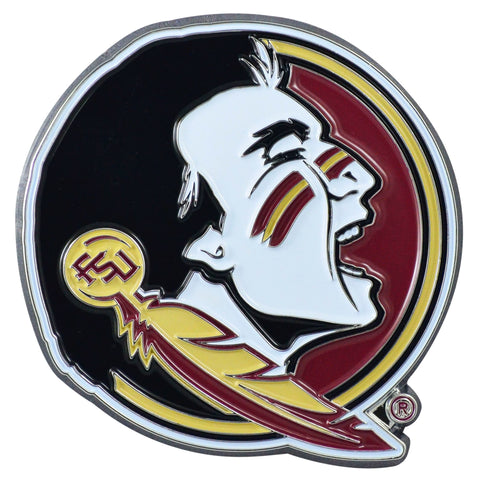 "Florida State University Color Metal Emblem 3""x3.2"""