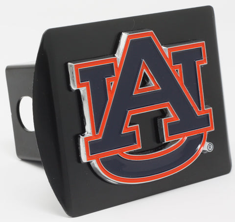 "Auburn University Color Metal Hitch Black 3.4""x4"""