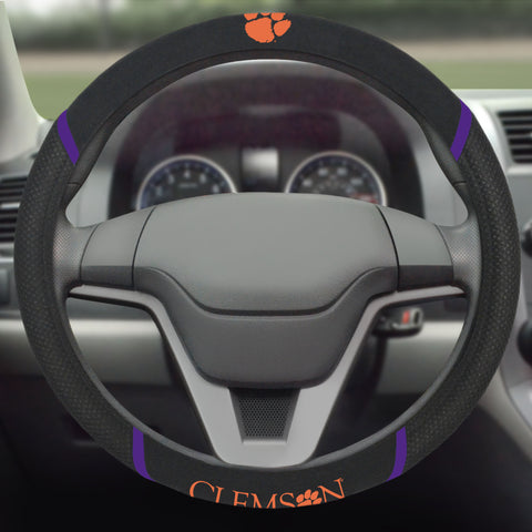 "Clemson Steering Wheel Cover 15""x15"""