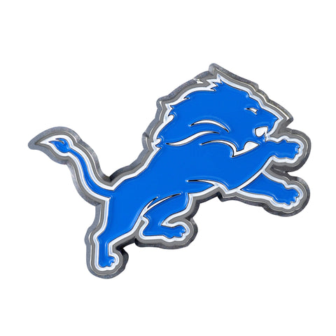 NFL - Detroit Lions Chrome Color Metal Emblem