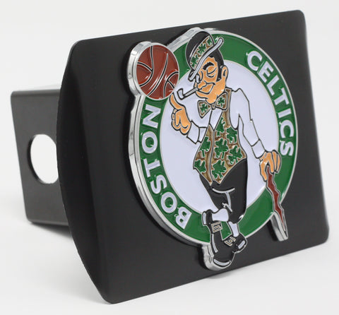 "Boston Celtics Color Metal Hitch Black 3.4""x4"""