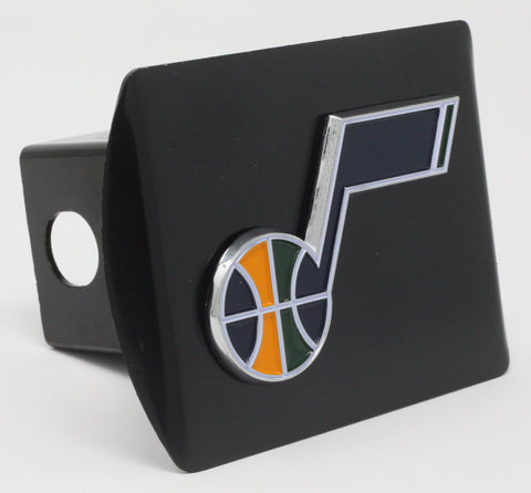 "Utah Jazz Color Metal Hitch Black 3.4""x4"""