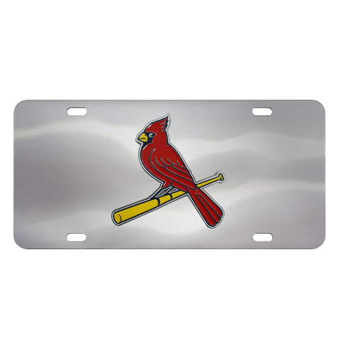 St Louis Cardinals Diecast Stainless Steel License Plate