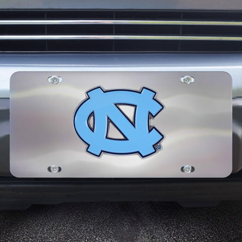 UNC North Carolina Stainless Steel Diecast License Plate