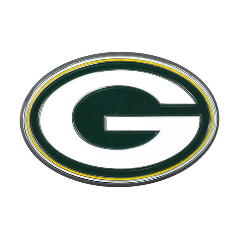 NFL - Green Bay Packers Chrome Color Metal Emblem