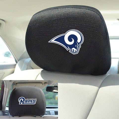 NFL - Los Angeles Rams Head Rest Covers with Embroidered Logos
