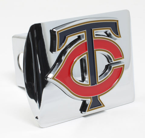 Minnesota Twins Chrome Metal Hitch Cover with Color Emblem