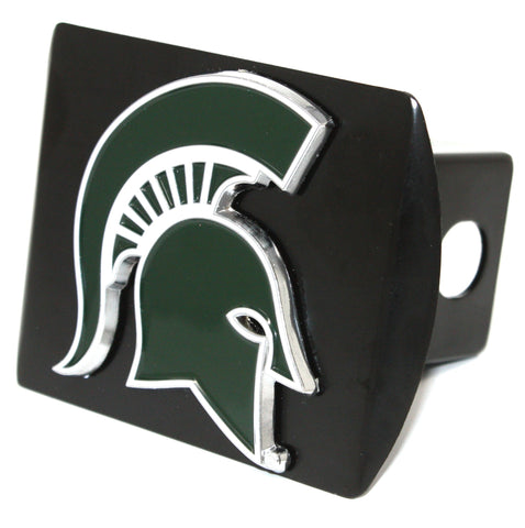 "Michigan State University Color Metal Hitch Black 3.4""x4"""