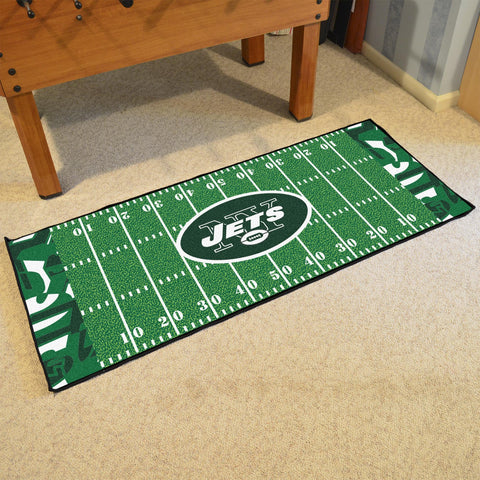 New York Jets Quick Snap Football Field Runner Area Rug