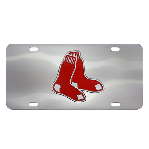 Boston Red Sox Diecast Stainless Steel License Plate