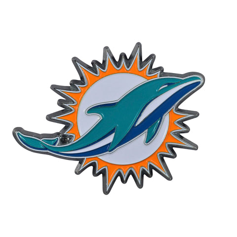 NFL - Miami Dolphins Chrome Color Metal Emblem
