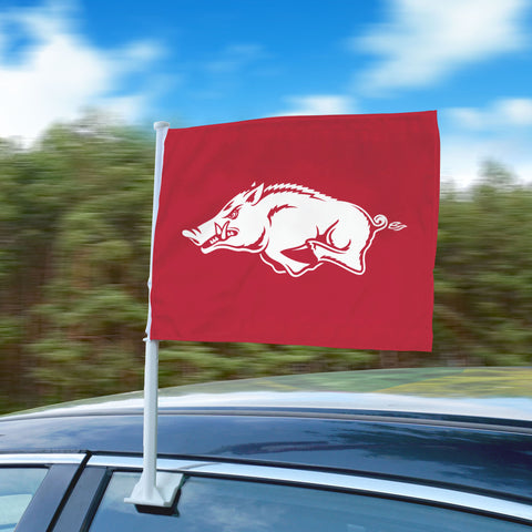 "Arkansas Razorbacks 11""x14"" 2-Sided Window Mounted Car Flag"