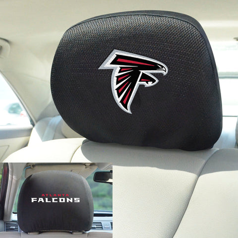 NFL - Atlanta Falcons Head Rest Covers with Embroidered Logos
