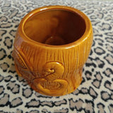 Brown Headhunter Ceramic Tiki Mug