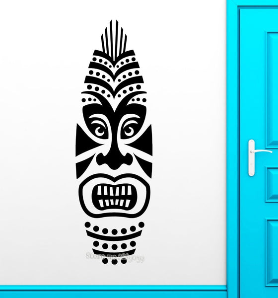 Tiki Mask Wall Sticker Removable Vinyl Decal Africa Style Design Modern Wall Decals Door Hall Sofa Background Decor Wall LA472