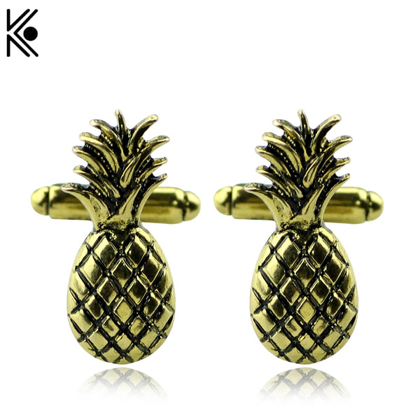 Pineapple Cufflinks Cufflink Novelty Cuff Links Steampunk Style Tiki Party Vintage Style Antique Brass Gifts For Man And Woman