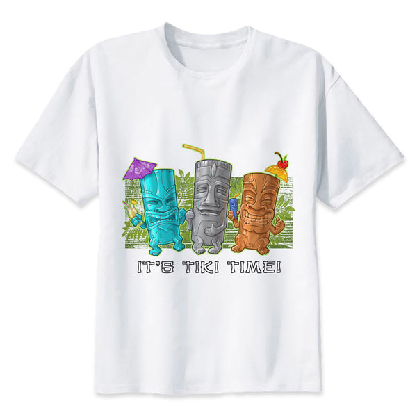 Tiki t shirt men cartoon 20T shirt men t fashion t-shirt O Neck white For man Top Tees7 cool funny tshirt print men Tees MMR741