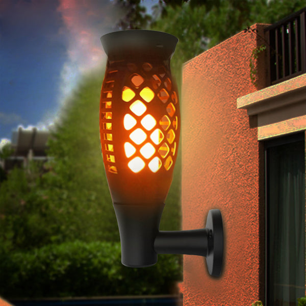 3 Shapes Solar Flame Flickering Garden LED light IP65 outdoor solar tiki torch light Spotlights Landscape Decoration led Lamp