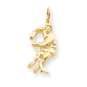 10k HOCKEY PLAYER CHARM