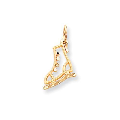 10k Diamond-Cut Ice Skate Charm