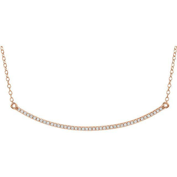 "14K 1/6 CTW Diamond Bar 16-18"" Necklace"