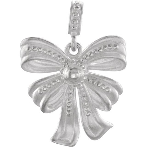 Sterling Silver Bow Design Pendant