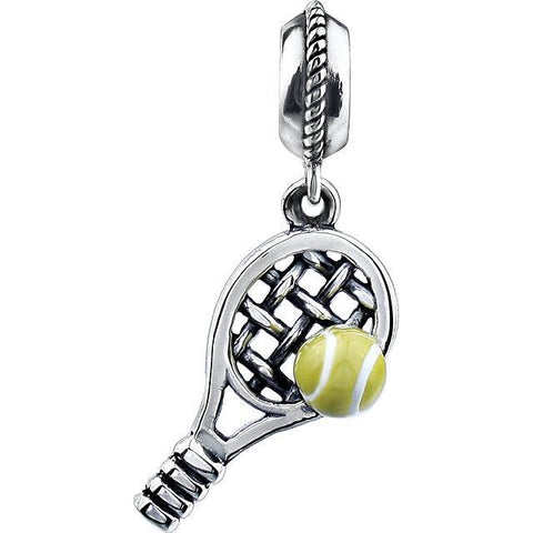 Sterling Silver 18x9.5mm Kera Tennis Charm