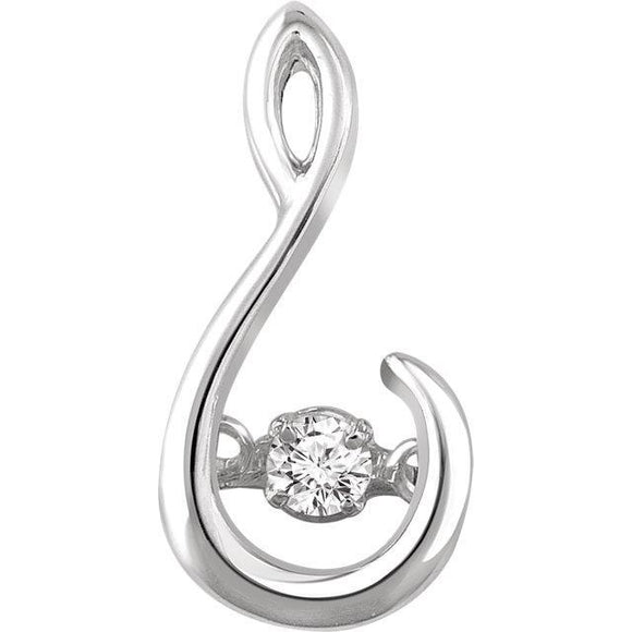 14K White .05 CT Diamond Mystara Pendant