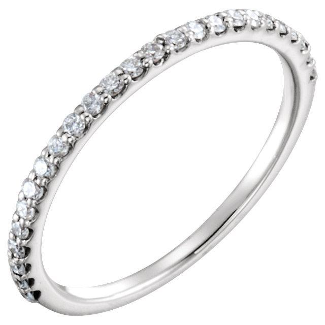 14K White 1/4 CTW Diamond Band