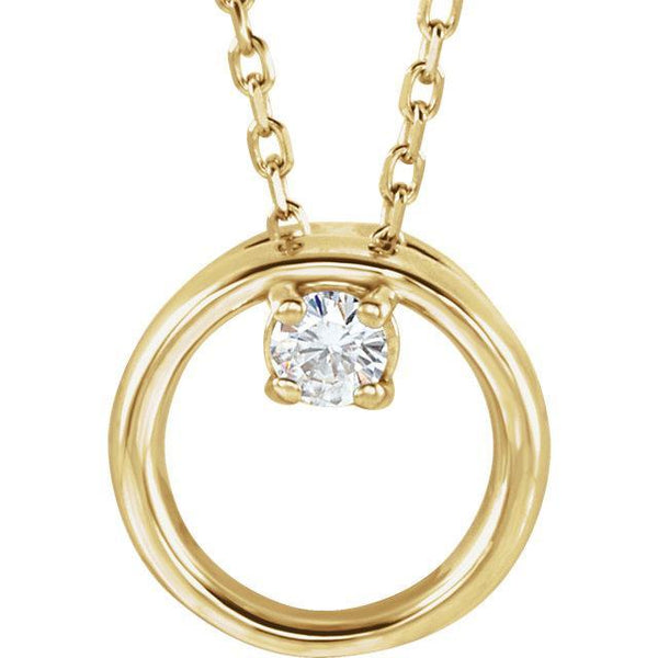 14K 3mm Round Forever One™ Moissanite Necklace