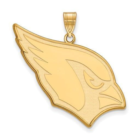Gold Plated Sterling Silver Arizona Cardinals XL Pendant
