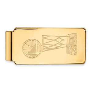Gold PlatedSterling Silver 2018 NBA Championship Golden State Warriors Money Clip