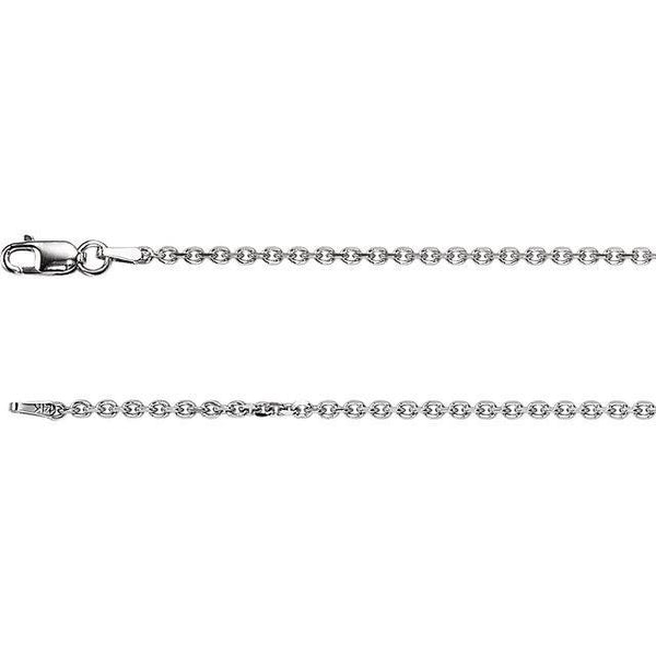 "1.75mm Solid Diamond-Cut Cable 16"" Chain"