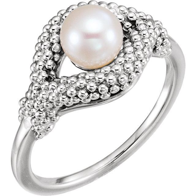 Freshwater Cultured Pearl Beaded Ring