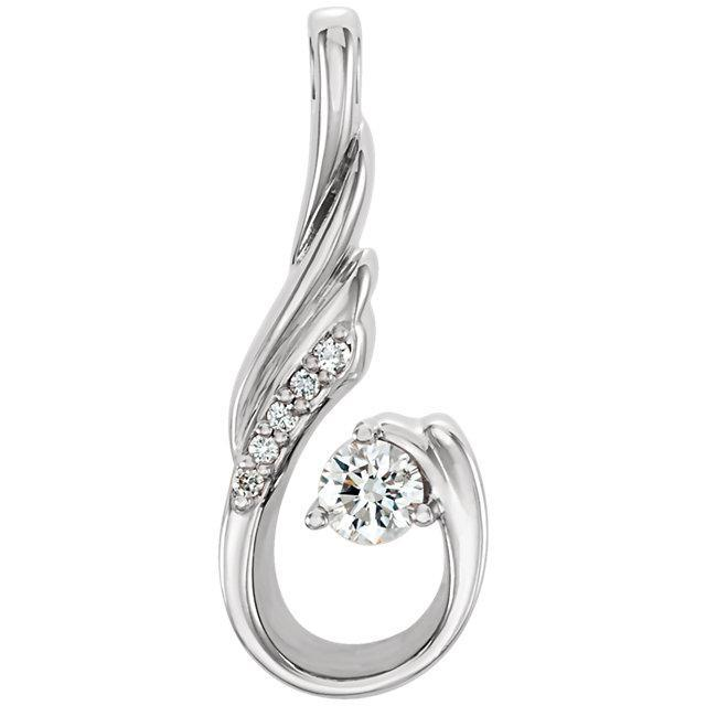 14K 1/8 CTW Diamond Pendant