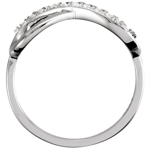 14K  .05 CTW Diamond Infinity-Inspired Ring