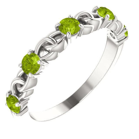 Peridot Stackable Link Ring