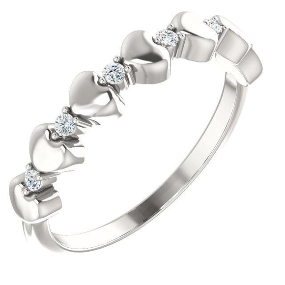 Diamond Stackable Heart Ring