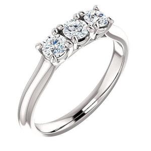 14K Round Forever One™ Moissanite Anniversary Band