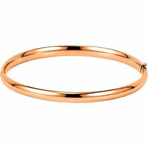 14K 4.75mm Hinged Bangle Bracelet