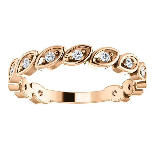 14K 1/6 CTW Diamond Anniversary Band